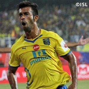Milagres Gonsalves of Kerala Blasters during their match against FC Goa in Kochi on November 6, 2014.