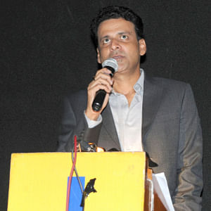 Actor Manoj Bajpai speaking at the inauguration of the Indian Panorama, during the 45th International Film Festival of India (IFFI-2014), in Panaji, Goa on November 21, 2014.