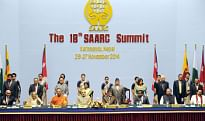 Prime Minister Narendra Modi with other SAARC leaders, at the concluding session of the 18th SAARC Summit, in Kathmandu, Nepal on November 27, 2014.