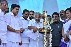 Kerala Chief Minister Oommen Chandy inaugurating the Trivandrum International Stadium at Karyavattom in Thiruvananthapuram on January 7, 2015