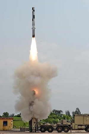 File photo of BrahMos supersonic cruise missile being launched from a Mobile Autonomous Launcher.