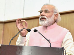 Prime Minister Narendra Modi addressing the 65th Plenary Session of North East Council, in Shillong on May 27, 2016.