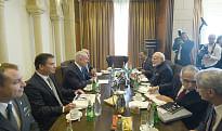 Prime Minister Narendra Modi meeting Israeli Prime Minister Benjamin Netanyahu, in Jerusalem, Israel on July 5, 2017.