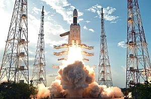 India's heavy lift Geo-Stationary Launch Vehicle (GSLV) MkIII-D1, in its maiden mission, taking off with the country's heaviest ever communication satellite GSAT-19 from Sriharikota, on June 5, 2017'