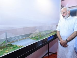 Prime Minister Narendra Modi at the inauguration and laying of foundation stone of various major highway projects, at Udaipur, in Rajasthan on August 29, 2017.