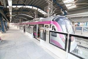 A view of the Delhi Metro's Botanical Garden station in Noida
