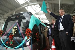 Delhi Metro conducts first test run on Noida-Greater Noida corridor