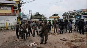 An indefinite curfew was imposed in areas under Lumdiengjri Police Station and Cantonment Beat House in Shillong on Friday.  (Photo: IANS)