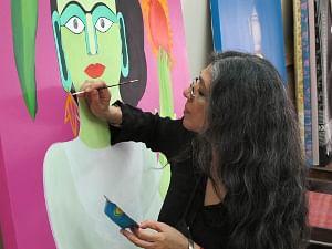My female representation endorsement of female victory, spirit: Artist Rekha Rodwittiya
