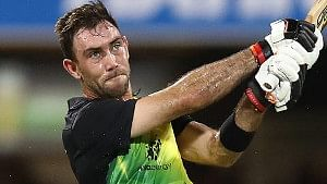 Australia's Glenn Maxwell in action during the first T20I against India in Brisbane on November 21, 2018.