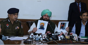 Punjab Chief Minister Amarinder Singh addressing a press conference in connection with Sunday's grenade attack on the Nirankari Satsang Bhawan near Amritsar that left three persons dead, in Chandigarh on November 21, 2018. (Photo: IANS)