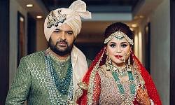 File photo of Kapil Sharma and Ginni Chatrath at their wedding at Jalandhar on December 12, 2018.