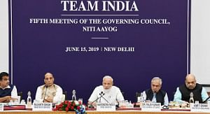 Prime Minister Narendra Modi chairing the fifth meeting of the Governing Council of NITI Aayog, in New Delhi on June 15, 2019.