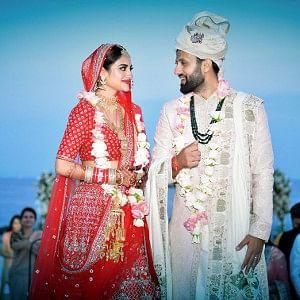 Bengali actress and TMC MP Nusrat Jahan with Kolkata-based businessman Nikhil Jain after their wedding at Bodrum in Turkey, on June 19, 2019. (Photo: Twitter/@nusratchirps)