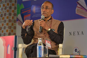 Nobel Laureate Venkatraman Ramakrishnan during the 12th edition of Jaipur Literature Festival on January 25, 2019. (Photo: Shaukat Ahmed/IANS)
