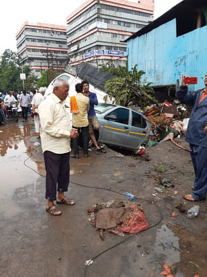 A scene in Pune, which was lashed by  heavy rains for the past two days, on September 26, 2019