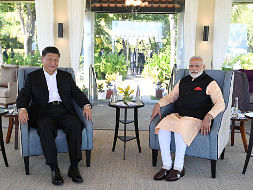 Prime Minister Narendra Modi and Chinese President Xi Jinping on the second day of their Informal Summit at Mahabalipuram in Tamil Nadu, on October 12, 2019.