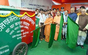 President Ram Nath Kovind launching a nationwide sanitation campaign, 'Swachhta hi Sewa', at Ishwariganj village in Kanpur, Uttar Pradesh on September 15, 2017.
