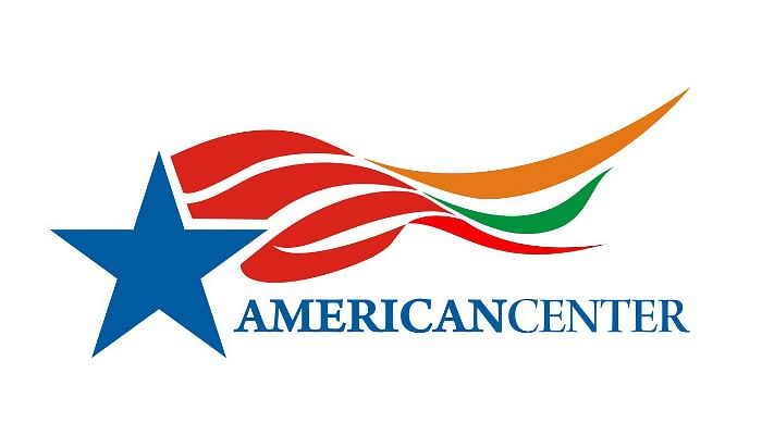 The winning entry in the American Center logo design contest, designed by Ameet Mehta.