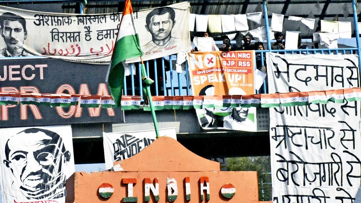 'Come count the number of flags here today': Republic Day celebrations at Shaheen Bagh, in pictures