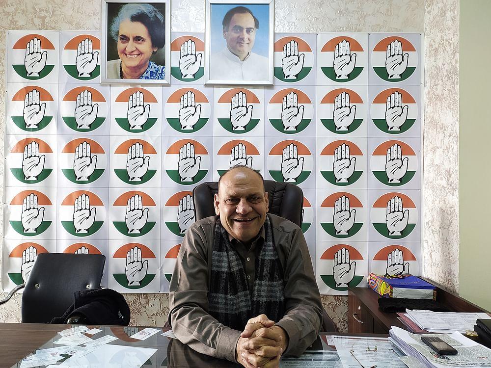 Mukesh Sharma, the Congress's spokesman and Vikaspuri candidate.