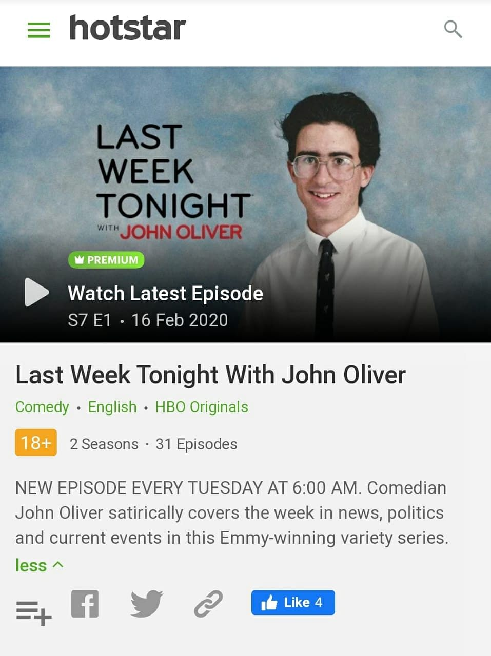 John Oliver's latest episode lampooned Narendra Modi. Why hasn't Hotstar uploaded it yet?