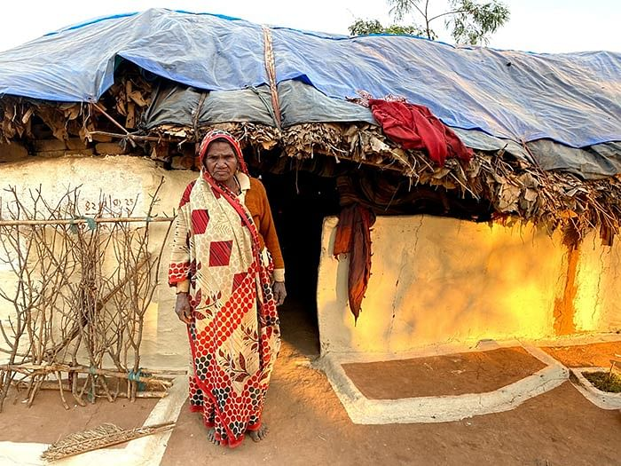 Kasturi Sahariya, 60, lost her husband and both her sons who worked in a stone quarry.