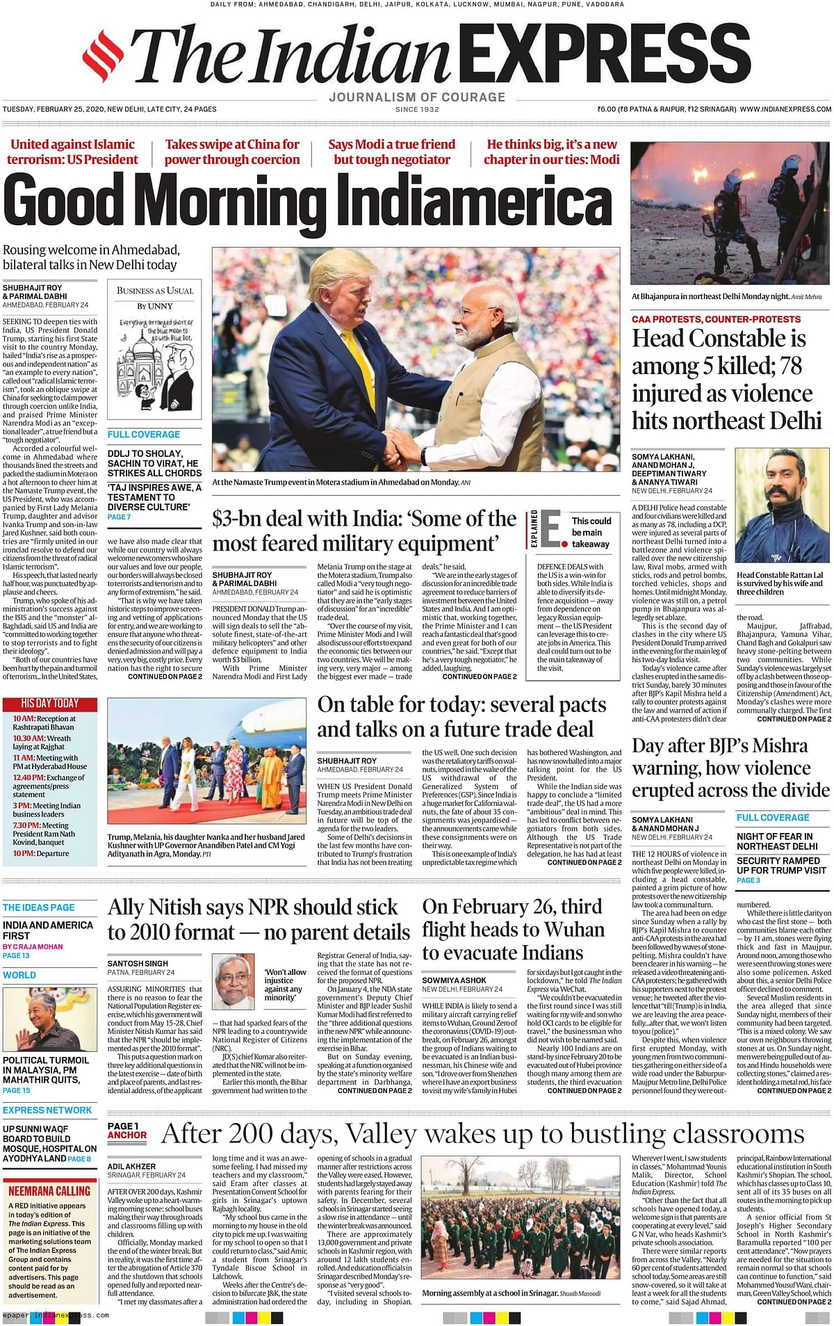 'Good Morning Indiamerica': How major English newspapers in India and Pak covered Trump's visit