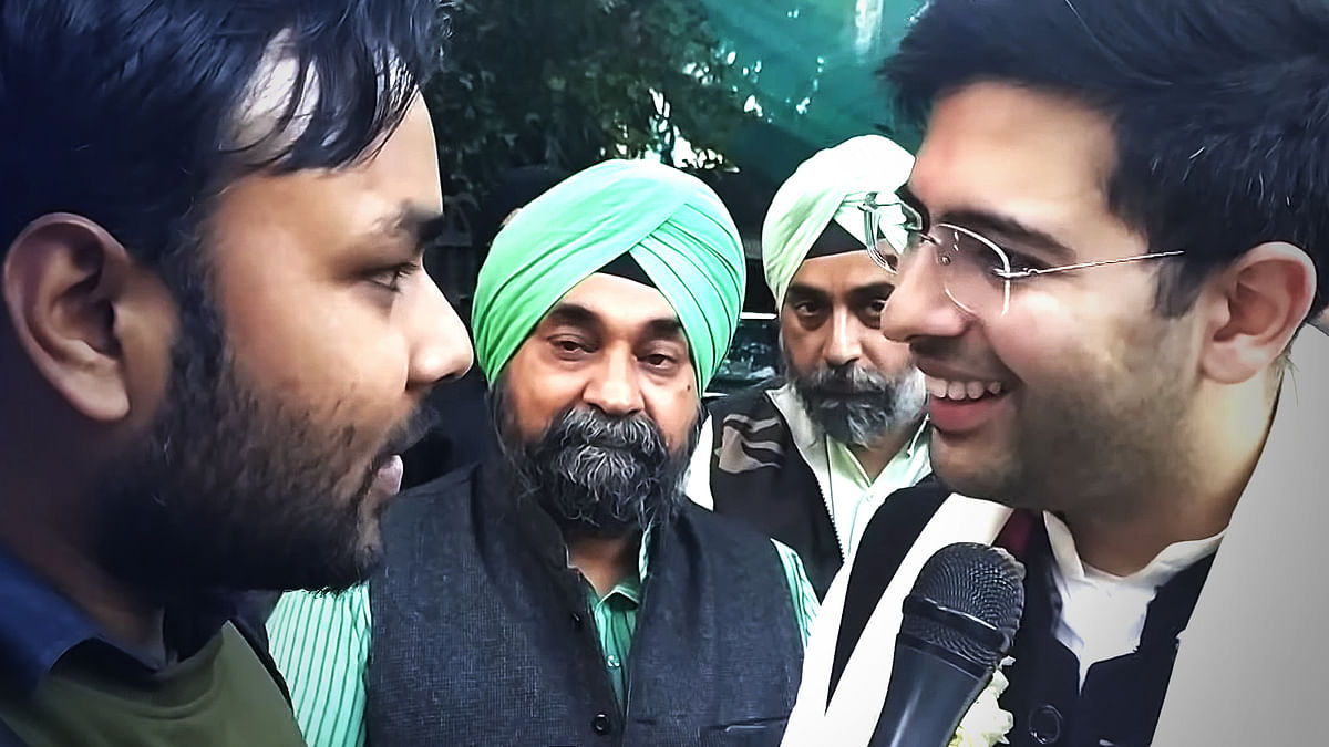 दिल्ली चुनाव को लेकर आप नेता राघव चढ्ढा से बातचीत