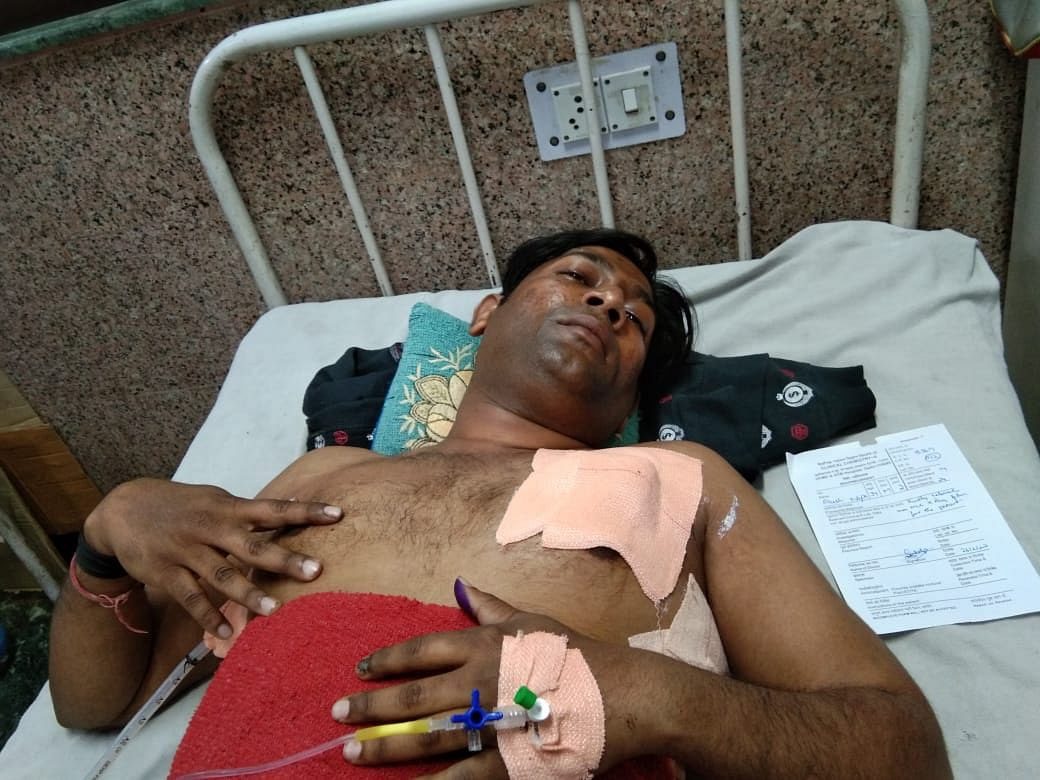 Akash Napa was shot by a mob on February 25