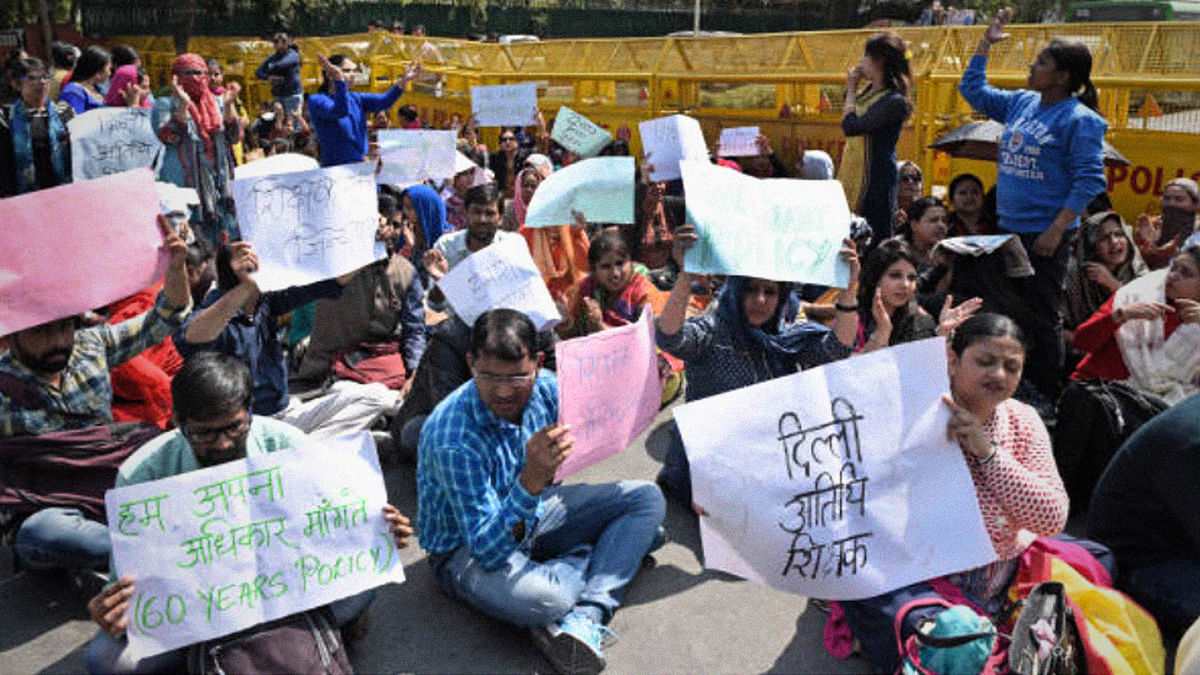 गेस्ट टीचर्स: नई सरकार, पुरानी मांग