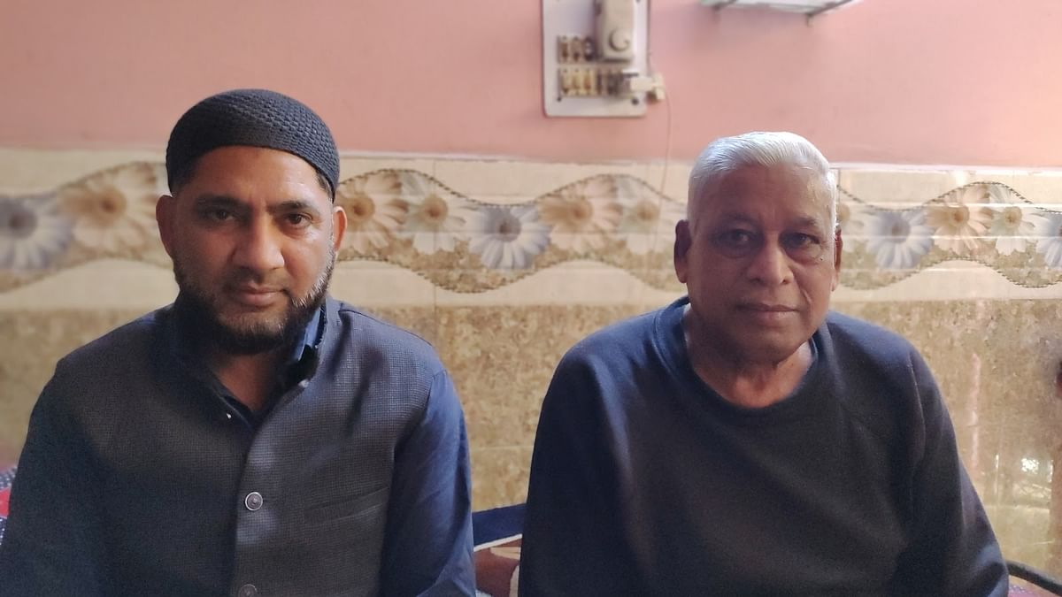 Mohd Zahid and Manu Choudhary at the latter's home in Nehru Vihar
