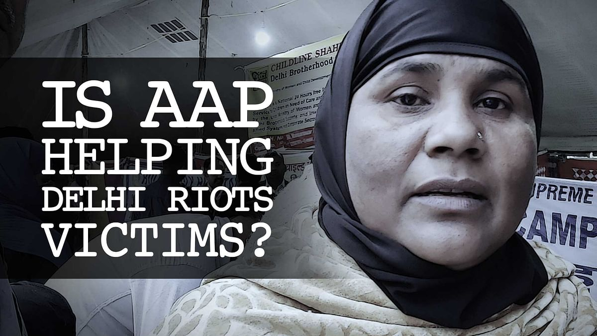 What is AAP doing to help Delhi carnage victims?