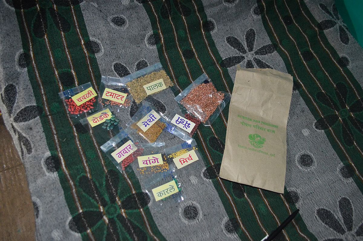 The seed packets distributed by Plan India.