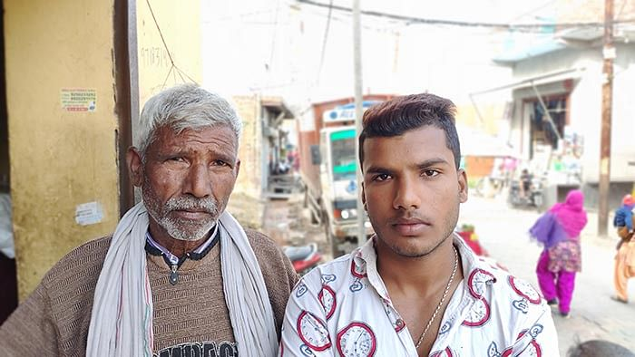 Bhure Ali's father, Hassan, and his brother Aman.