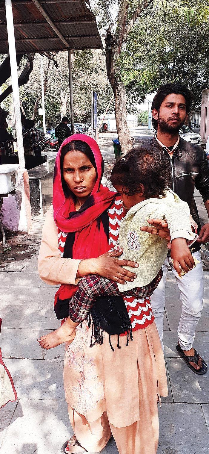 Sunita with her child.