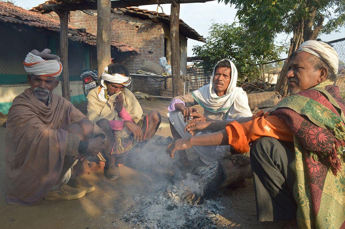 Villagers soaking in the sun in Chilati village.