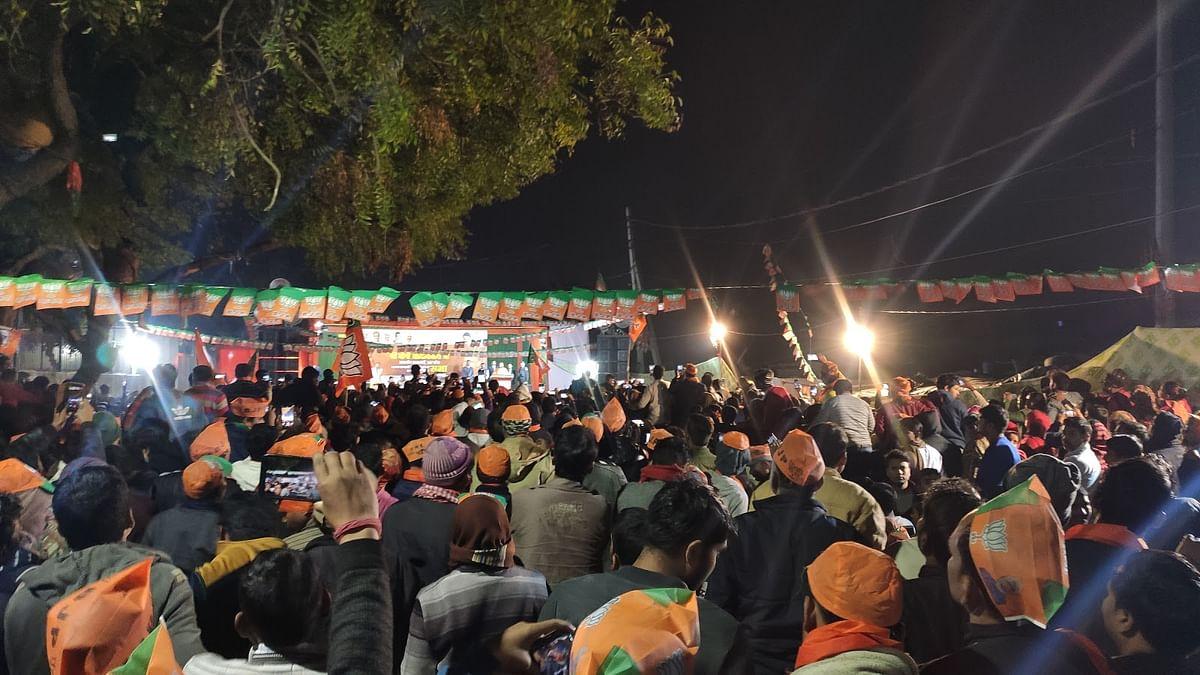 Adityanath's rally in Harkesh Nagar, Okhla, on February 2, 2020.