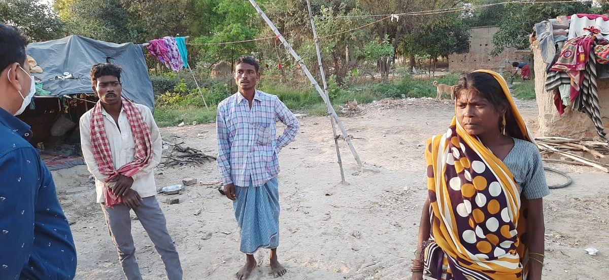 कोइरीपुर में रहने वाला मुसहर परिवार