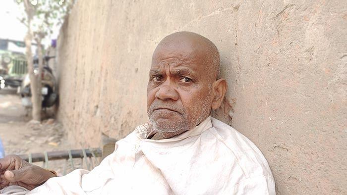 Chhedi Lal, a resident of Bhagirathi Vihar in North East Delhi.