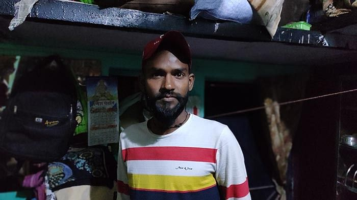 Arun Kumar, 27, who fished out Aas Mohammad's body.