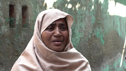 Shabbo has been unable to find her son since the police came looking for him. She doesn't know if he has been detained or has gone into hiding.
