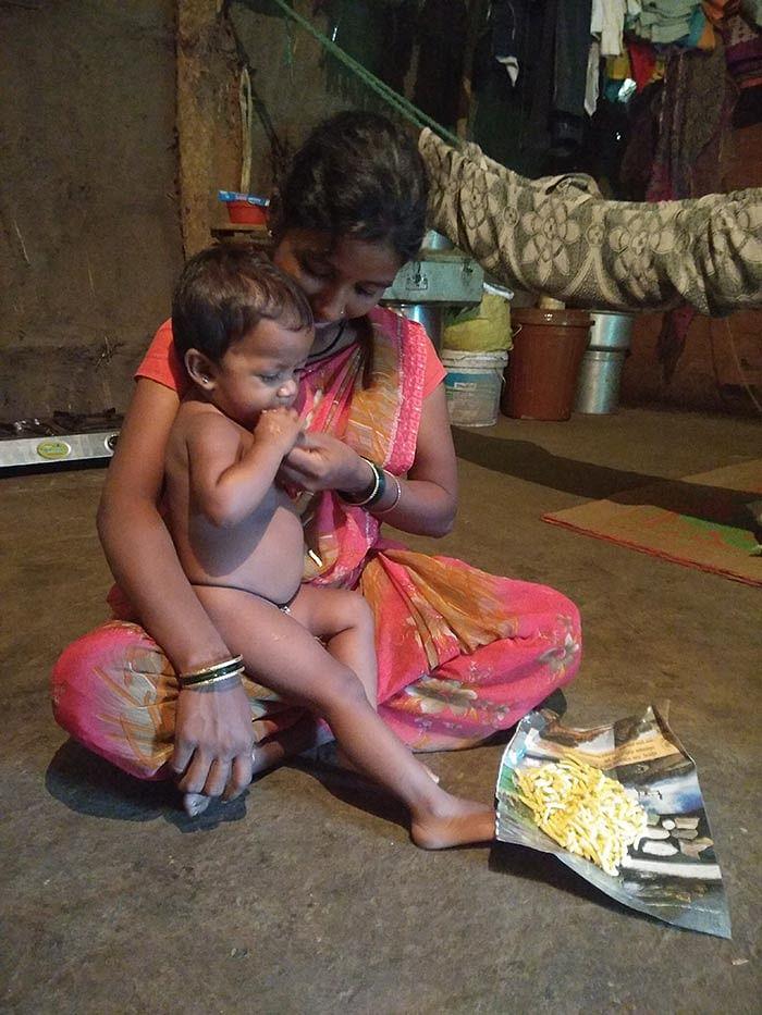 Radhika Jadhav and her daughter, Rutishka.
