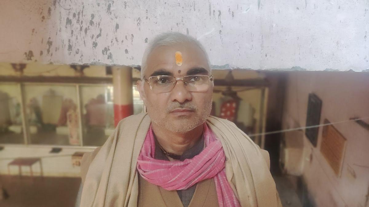 Gokul Chandra Sharma, the temple priest.