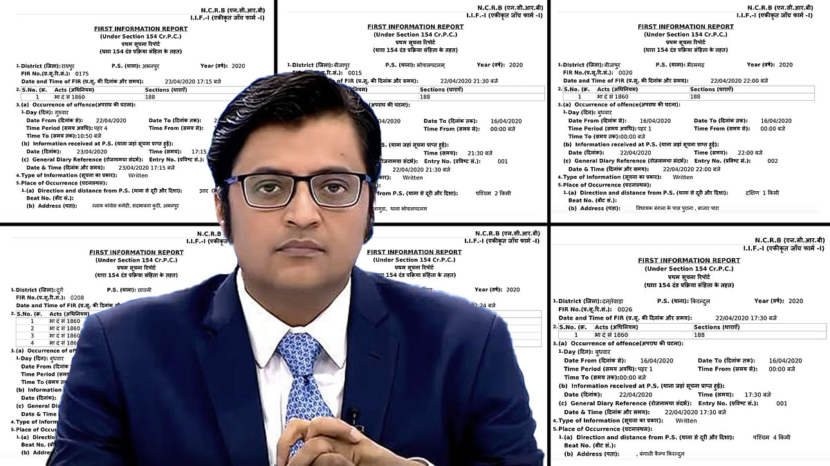What the 101 FIRs filed against Arnab Goswami in Chhattisgarh say