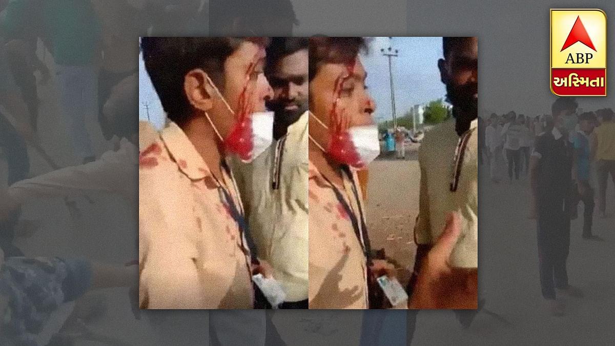 गुजरात: नाराज प्रवासी मजदूरों ने एबीपी के पत्रकार पर किया हमला