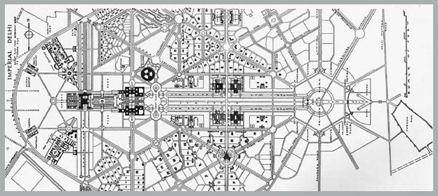 Final layout of Central Vista as per Edwin Lutyens' design, 1931.
