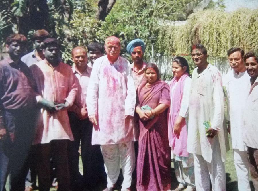 Gupta with LK Advani in an undated picture.