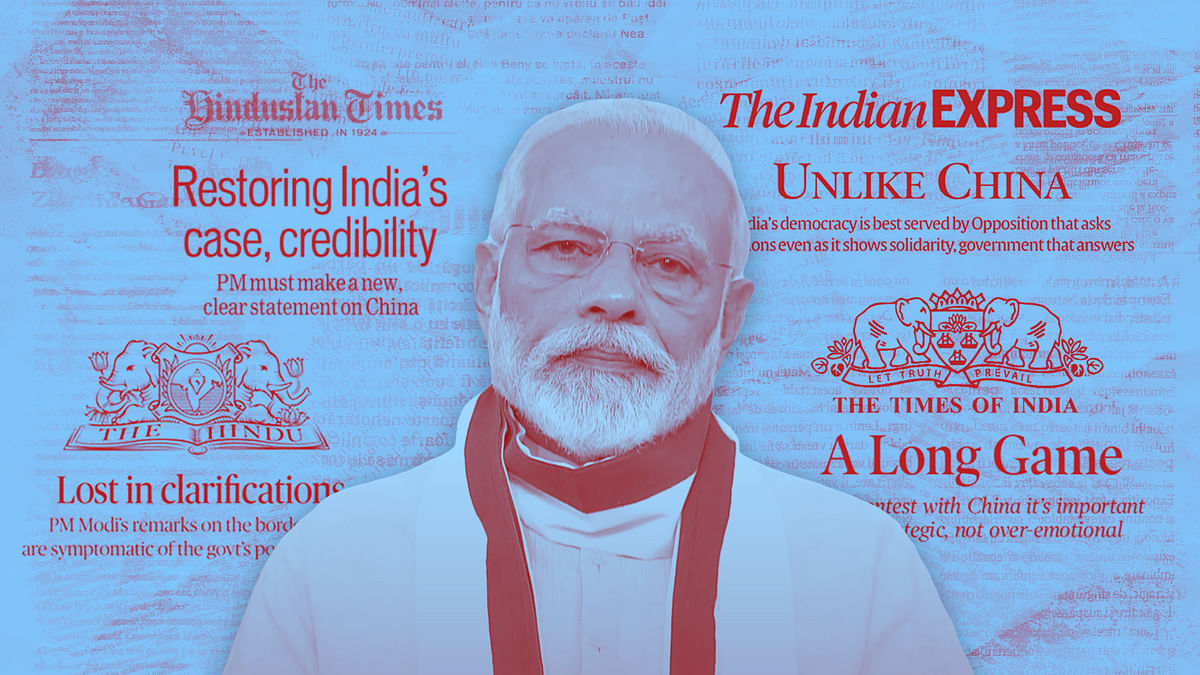 'Ammunition to China': Top English dailies rally against Modi's remarks on Ladakh clash