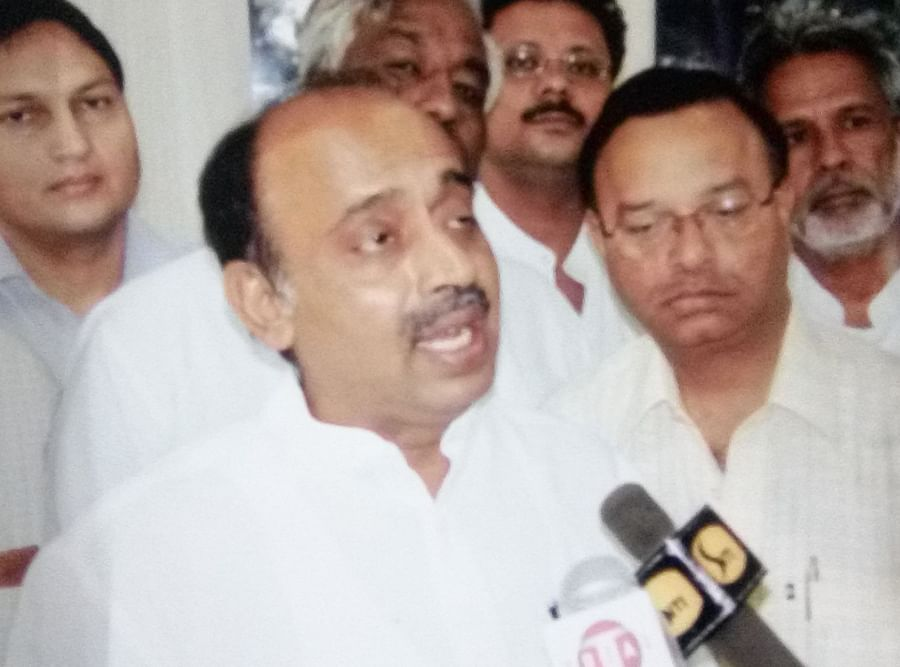 Gupta with Vijay Goel in an undated picture.